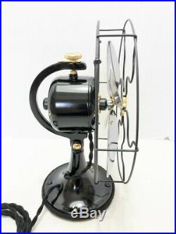 Vintage antique1930s GE 9 Electric Custom Yoke Fan Polished steel Blades