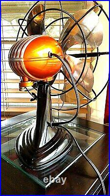 Vintage1950's Westinghouse Electric Fan Art Deco, Candy Orange, Refurbished