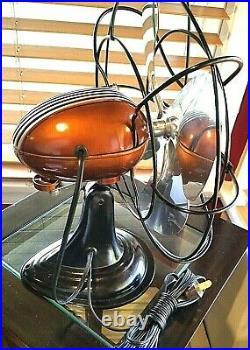 Vintage1950's Westinghouse Electric Fan Art Deco, Root Beer Color, Refurbished