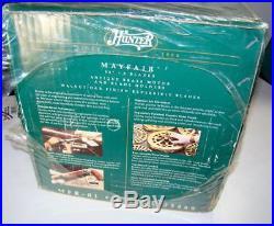 Vtg Hunter Original Ceiling Fan Antique Brass 52 Mayfair NEW Walnut Oak Finish