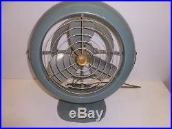 Vtg Old Antique Vornado Desk Fan Blue B28C1-1 B52 Art Deco Industrial Decor