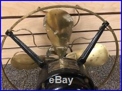 WESTINGHOUSE Style 149575 3 Speed 12 Brass Blades Antique electric fan