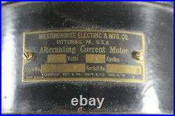 Westinghouse 12 inch Brass Blade Fan Style 60677 Tank Antique No Cage