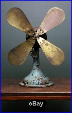 Westinghouse 16 Brass Blade Fan No Cage Antique Vintage for Parts or Repair Old
