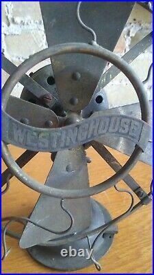 Westinghouse Antique Electric Fan Solid Brass/All Brass Body 8 Made In 1909