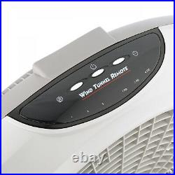Wind Tunnel Pivoting 3-Speed Fan With Remote Control White 20 Inch 70 Inch Cord