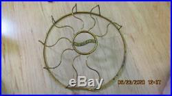 Working Vintage Antique Westinghouse 1914 6 Brass Blade Oscillating Fan AC 12