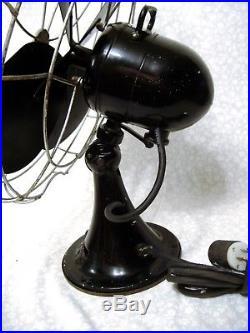 Works 16 Emerson Electric Large 3 Speed Oscillating Vtg Antique Desk Table Fan
